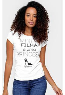 Camiseta Brandili Tal Mãe Princesa - Feminino-Branco
