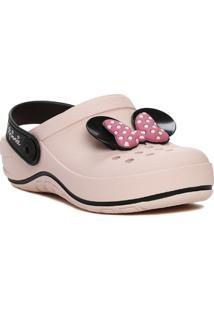 Chinelo Babuche Infantil Disney Feminino - Feminino-Rosa