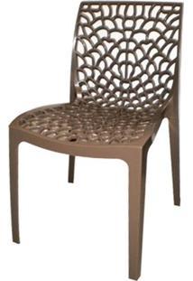 Cadeira Gruver Polipropileno Marrom - 21045 - Sun House