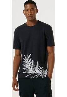Camiseta Masculina Regular Com Linho