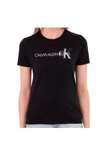 Camiseta Calvin Klein Logo Lateral Preto