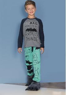 Pijama Infantil Menino Com Estampa Que Brilha No Escuro Puc [] []