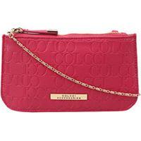 2a6792ca8 Bolsa Colcci Mini Bag Tiracolo Alça Corrente Placa Feminina - Feminino-Pink