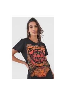 Camiseta Colcci Sunshine Gang Preta