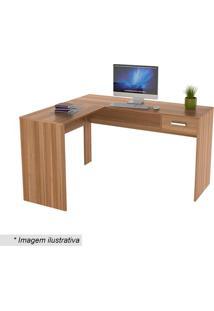 Mesa Para Escritório Office Plus Com Gaveta- Castanho