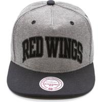 Boné Mitchell   Ness Rewind Nhl Detreoit Red Wings Snapback Cinza 2ac050ad2c710