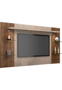 Painel Para Tv Até 42 Polegadas Atenas 2060 Santana/Ameixa Negra - Knr Móveis