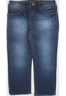 Calça Jeans Colcci Kids Infantil Estonada Azul