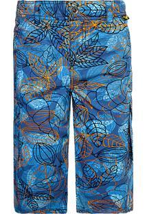 Bermuda Tigor T. Tigre Folhas Azul