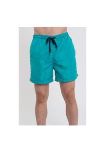 Bermuda Praia Short Masculino Suffix Com Bolsos Liso Verde