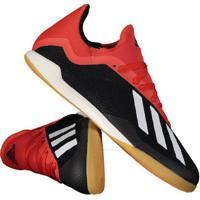 0e7fcf59e Fut Fanatics. Chuteira Adidas X 18.3 In Futsal Preta E Vermelha