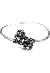Bracelete Cubo Bali De Prata - Feminino-Prata