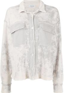 Cotton Citizen Saia Jeans Com Efeito Manchado - Cinza