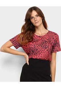Camiseta Lança Perfume Onça Descolada Feminina - Feminino