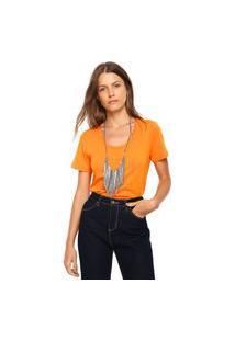 Camiseta Ellus Cascata Chain Laranja
