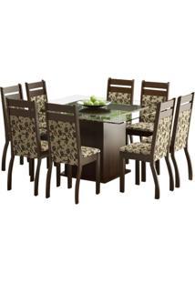 Conjunto De Mesa Com 8 Cadeiras De Jantar Louise