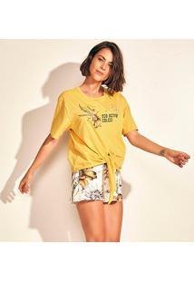 Camiseta Colcci Eco Active Feminina - Feminino-Amarelo+Verde