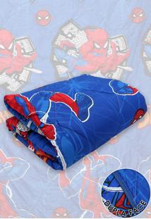 Edredom Solteiro Lepper Dupla Face Microfibra Spider Man 1,50 M X 2,20 M Azul - Azul - Menino - Dafiti