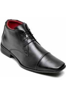 Sapato Social Top Flex Cano Alto Masculino - Masculino-Preto
