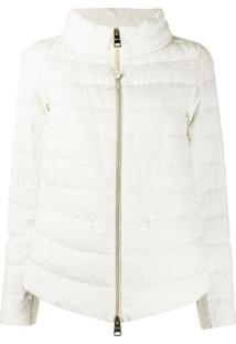 Herno High-Neck Quilted-Down Jacket - Branco