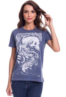 Camiseta Jazz Brasil Caveira Fênix Azul - Kanui
