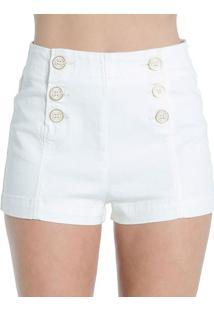 Shorts Sarja Off White Colcci