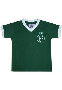Camisa Infantil Liga Retrô Palmeiras 1951 - Masculino-Verde