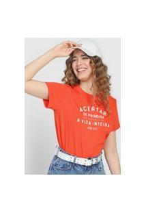 Camiseta Colcci Frase Vermelha