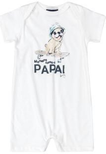 Pijama Macaquinho Pug Boys Branco