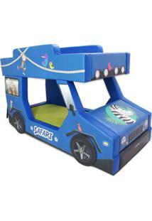 Beliche Safari - Cama Carro - Azul - Menino - Dafiti