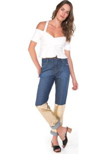 Calça Jeans Barra Foil