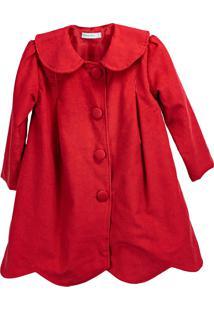 Casaco Pipoca Doce Veludo Cotelê Vermelho - Tricae
