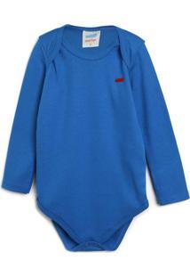 Body Marlan Baby Infantil Liso Azul