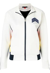 Perfect Moment Chevron Bomber Jacket - Branco