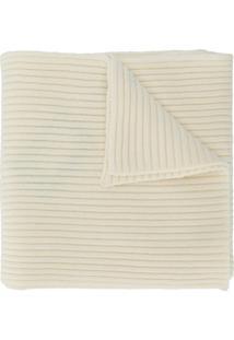 Pringle Of Scotland Cachecol Canelado De Cashmere Com Logo - Neutro