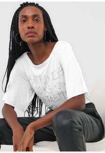Camiseta Triton Lettering Branca - Branco - Feminino - Viscose - Dafiti