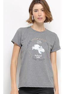 Camiseta Hapuna Baby Look Natural Wild Feminina - Feminino-Mescla Escuro