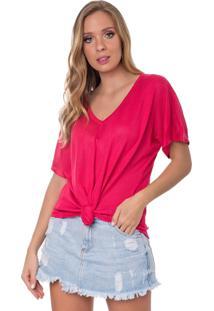 Camiseta Myah Flávia Rosa Nó Tricô