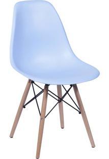 Cadeira Eames Dkr- Azul Claro & Bege- 80,5X46X42Cm