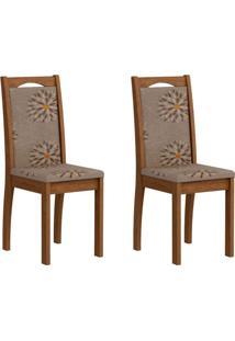 Conjunto Com 2 Cadeiras Lívia Savana E Café