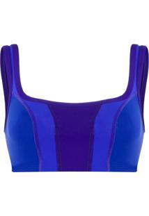 Isabel Marant Blusa Taceyo Cropped - Azul