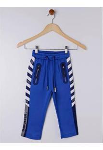 Calça Esportiva Infantil Gangster Masculina - Masculino-Azul