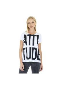 Camiseta T-Shirt Attitude Com Gola Redonda Aha