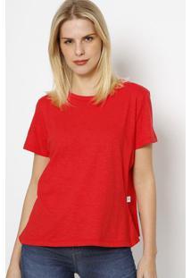 Camiseta Com Recorte- Vermelha- Tritontriton