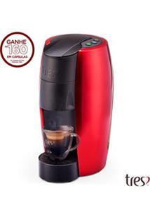 Cafeteira Tres Lov Vermelha Para Café Espresso - 200389