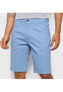 Bermuda Sarja Gajang Masculina - Masculino-Azul