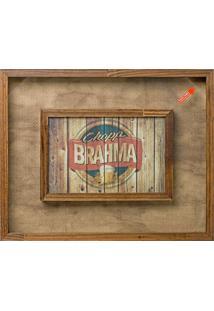 Quadro Porta-Tampas Brahma I Madeira