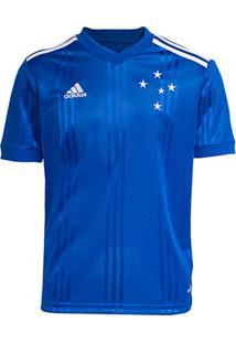 Camisa Cruzeiro Infantil I 20/21 S/Nº Torcedor Adidas - Masculino-Azul