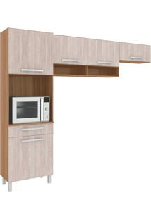 Cozinha Compacta Carol 5 Pt 1 Gv Montana E Elmo Natural
