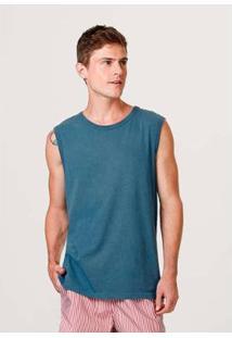 Regata Básica Hering Regular Alças Largas Masculina - Masculino-Azul